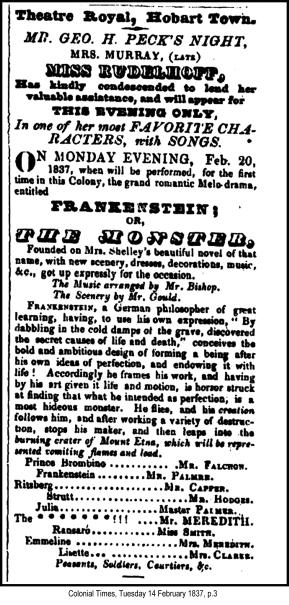 Frankenstein 1837