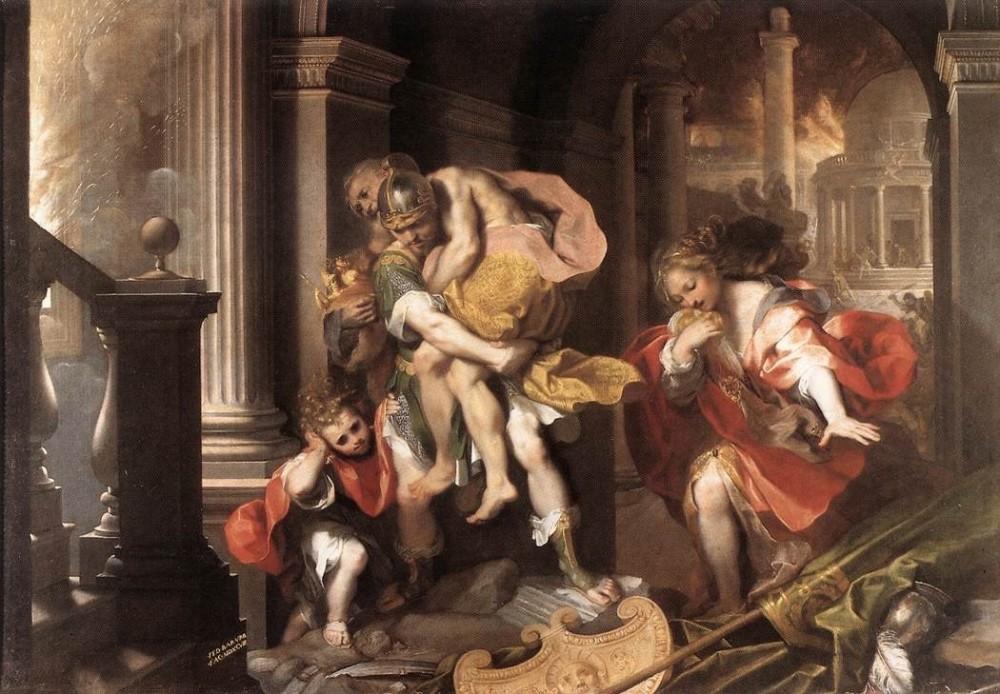 federico-barocci-aeneas-flight-from-troy-1598
